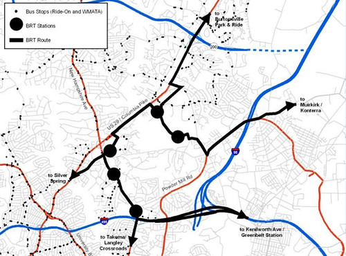 MoCo BRT Plan, White Oak