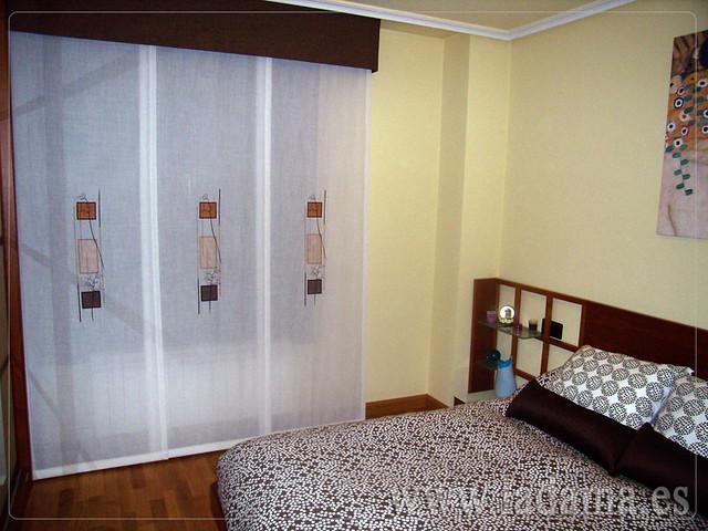 Decoraci n para dormitorios modernos cortinas en barra estores paneles japoneses fundas - Estores habitacion matrimonio ...