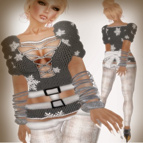 A&A Fashion Snowflake Sweater Grey