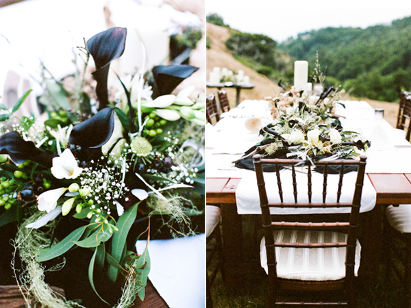 of this wedding table design feels sophisticated and totally chic boho