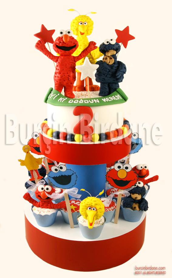 Sesame Street Cake& Cupcakes