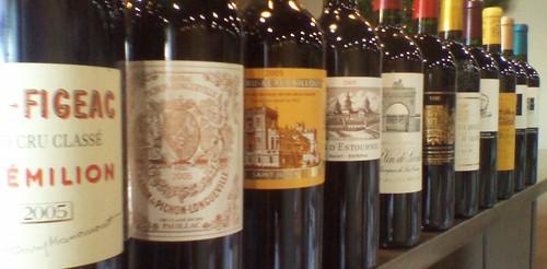 Wine Bottles Bordeaux 2005