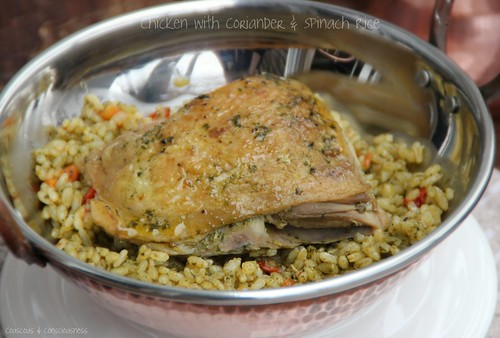 Chicken with Coriander & Spinach Rice 2