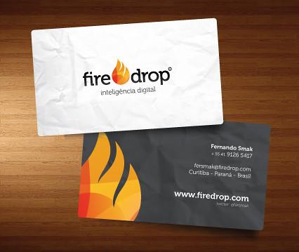 Logo + cartão Fire Drop by chambe.com.br
