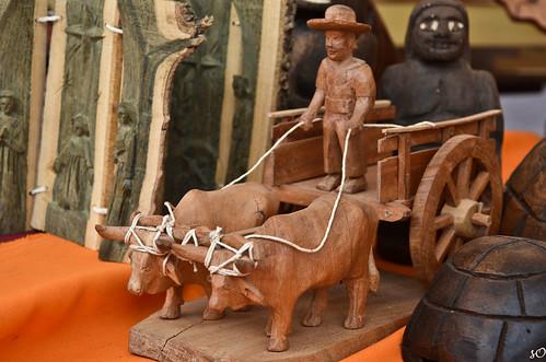 carreta- Tobatí 'El carretero y su sombrero, el de atrás, el pombero'