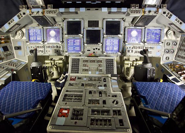 Inside the Space Shuttle Atlantis Cockpit | Flickr - Photo ...