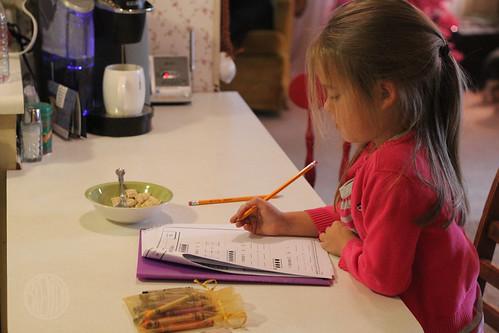 homework at breakfast