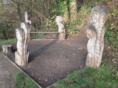 Carvings, Fairy Dell, Marton
