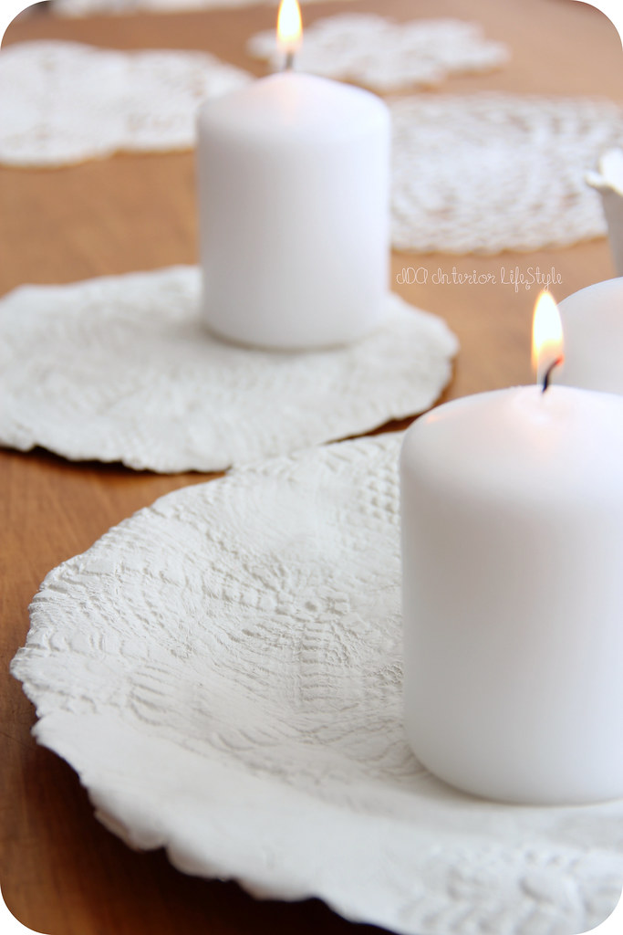 Xmas Ida DIY #4: lace candle holder
