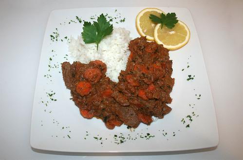 38 - Erdnusstopf mit Lamm / Peanut stew with lamb - Serviert