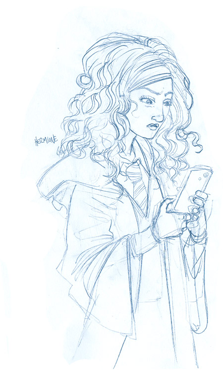 sketch hermione