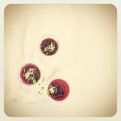 #dairyfree coconut milk agar-agar vanilla pannacotta with blueberry compote #food #foodphotography #ipad2