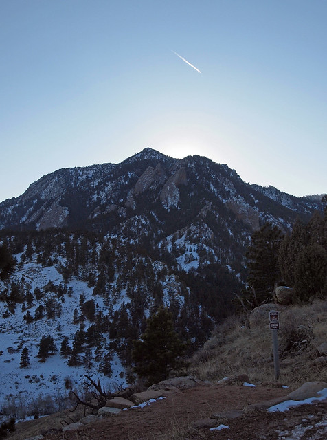 Backlit Bear Peak
