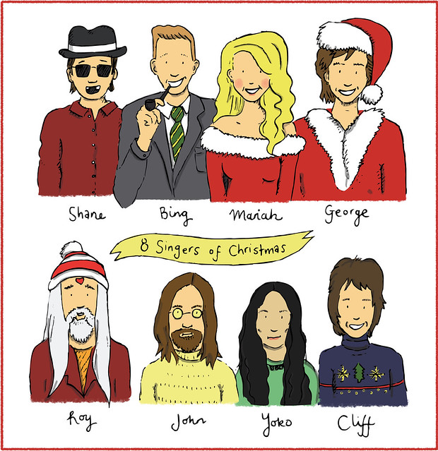 8 singers of christmas