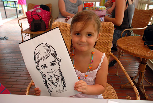 caricature live sketching for children birthday party 08 Oct 2011 - 6