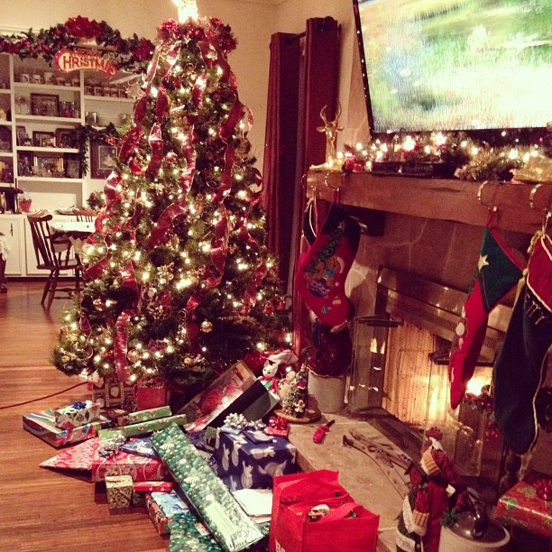 Christmas Eve at Grandma's #christmas #holiday #tree