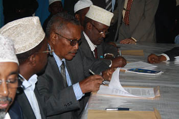 Somalia political officials sign treaty to form permanent government. Nonetheless the main opposition Al-Shabaab is not included amid military intervention of the US, UK, Israel, Ethiopia, France, Kenya, Uganda, Burundi and Djibouti. by Pan-African News Wire File Photos