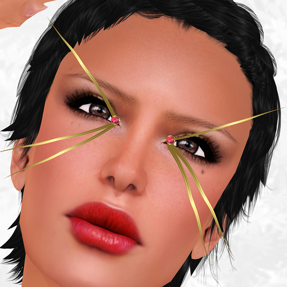Hunt Item 2 Gold Lashes with Rubies