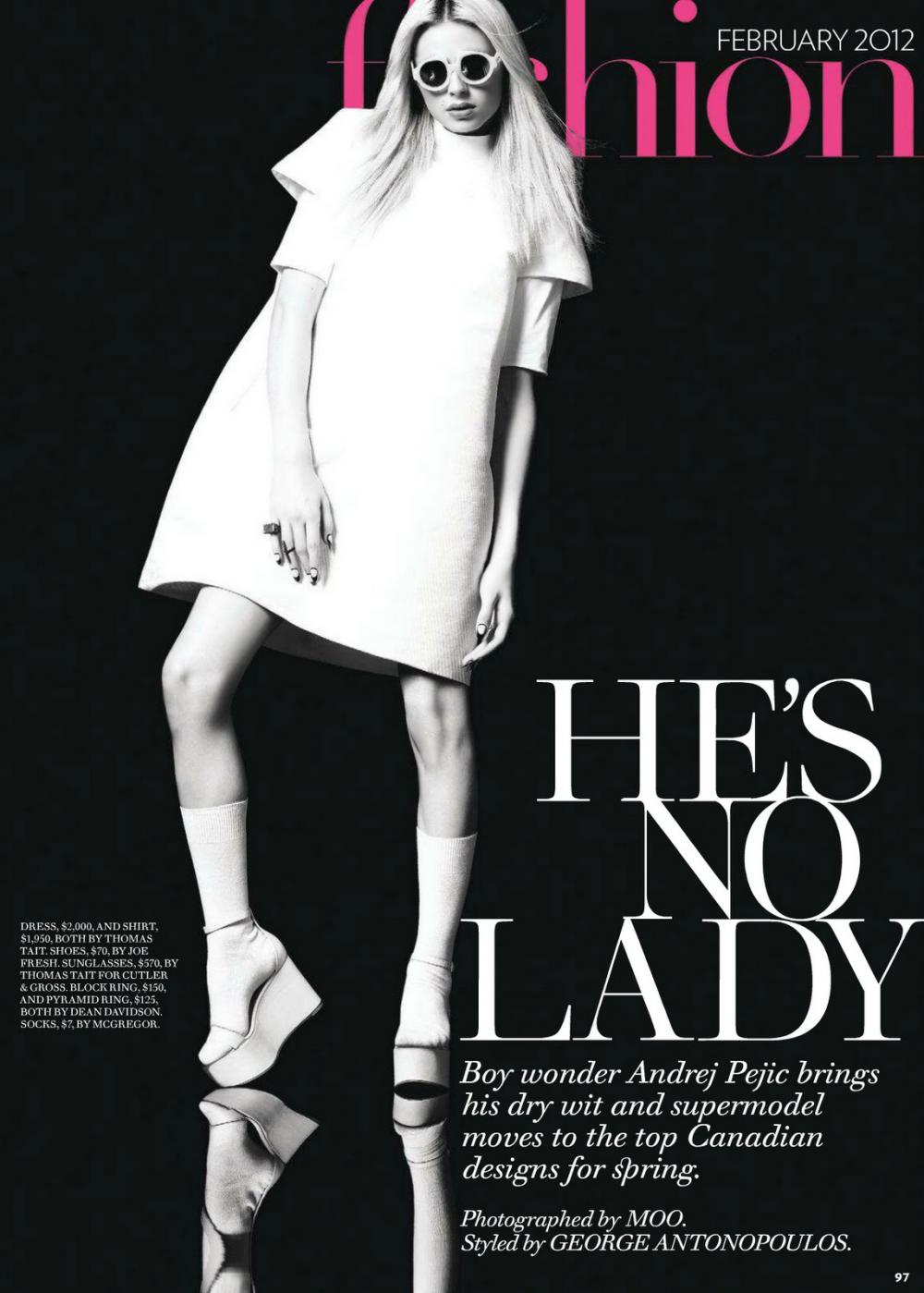 Andrej Pejic0523_Fashion Magazine Canada February 2012