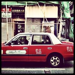 Taxi - Street - Bamboo - Hong Kong