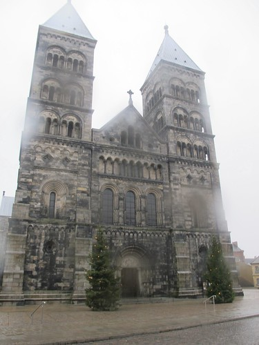 Lund Cathedral in the rain
