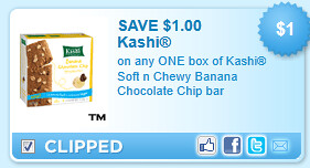 Kashi Soft N Chewy Banana Chocolate Chip Bar Coupon