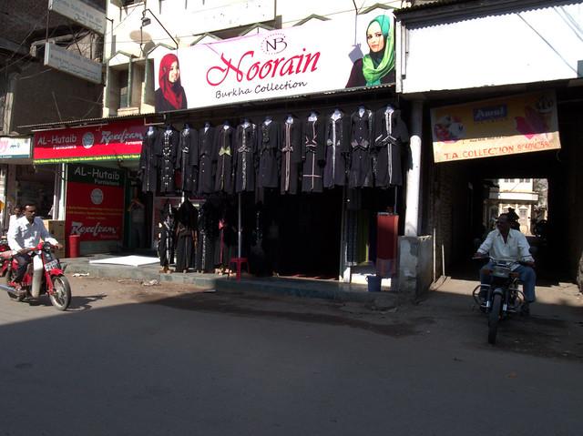 Burkha shop. Aurangabad, Dec 2011. GR043