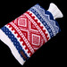 norwegian hot water bottle cover by suziesparkle