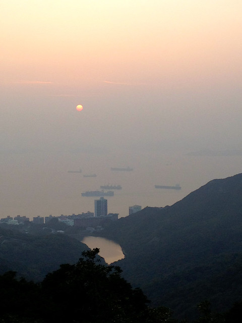 Sunset over Lamma Channel
