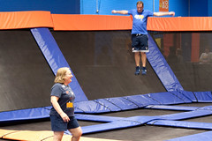 floor gymnastics(0.0), sport venue(0.0), acrobatics(0.0), sports(1.0), trampolining(1.0),