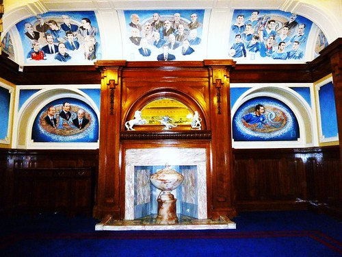 Detail from Blue Room at Rangers F.C.