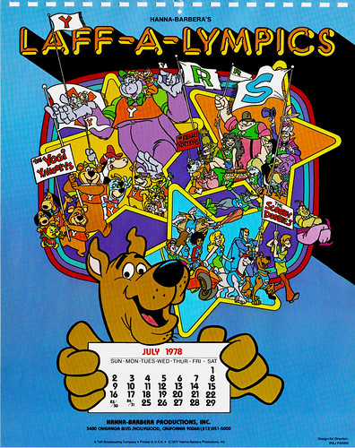 Hanna Barbera Calendar 1978 With Scooby Doo And Laff A Ly Flickr