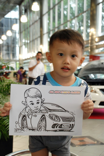 Caricature live sketching for Tan Chong Nissan Almera Soft Launch - Day 1 - 34