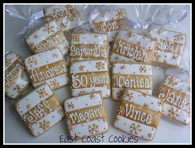 50th Anniversary cookies Placecard cookies made for my Sister inlaw 39s