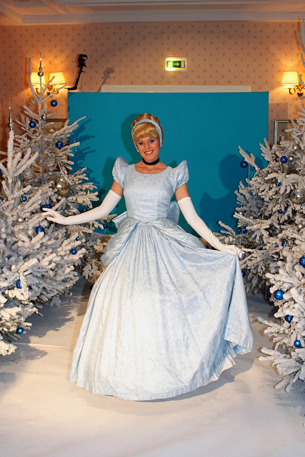 Meeting Cinderella at a special New Year's Eve meet 'n' greet in the Castle Suite