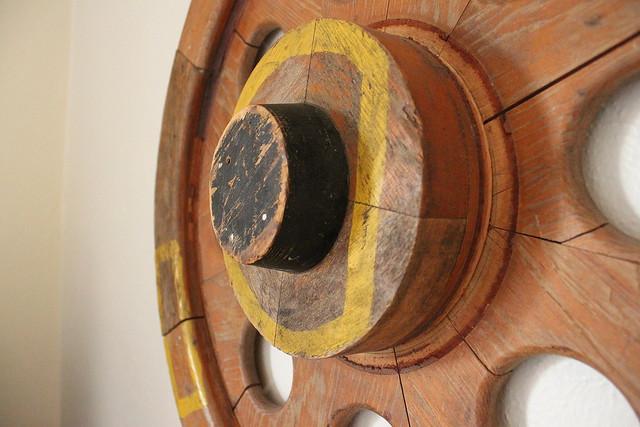 Train Wheel Form Wall Art - Close-up