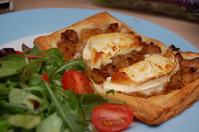 Yummy! Goats cheese & onion tart