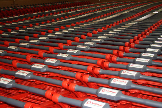 Red all plastic carts. from Flickr via Wylio