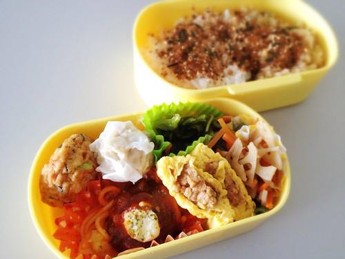 今日のお弁当 No.250 – 海苔かつお