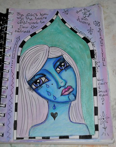 art journal page - sadness