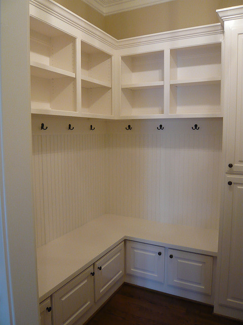 mudroom cubby storage with bench and height cabinet