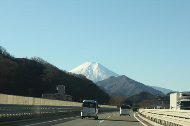 富士山の見える中央道