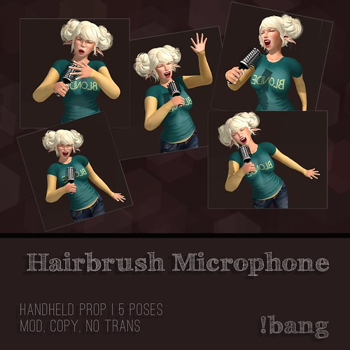 !bang - hairbrush microphone