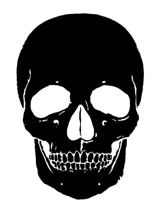 Alexander McQueen skull stencil