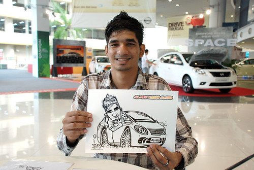 Caricature live sketching for Tan Chong Nissan Motor Almera Soft Launch - Day 3 - 20