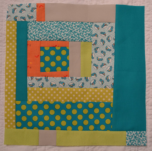 Aqua and Orange - Blocks for Betsy