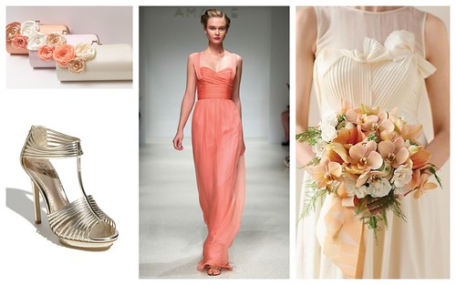 {Coral, Cream & Gold} Bridesmaids' Style by Nina Renee Designs