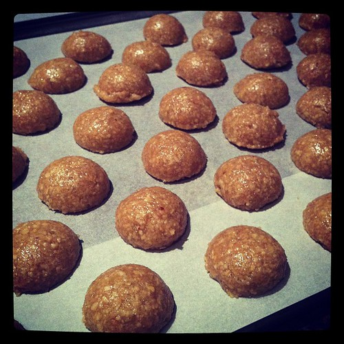 Peanut cookies ready for tanning
