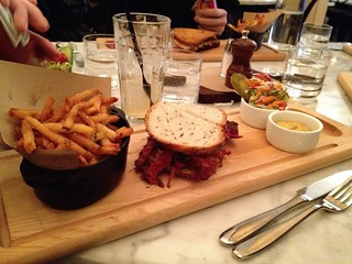 Kutsher's Tribeca - Pastrami Sandwich with Fries
