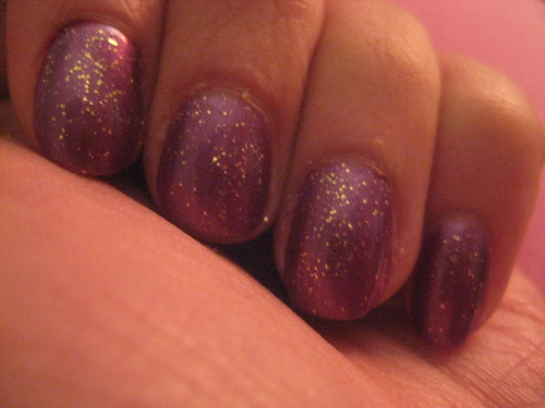 Kleancolor Purple and NK Sparkling Gold